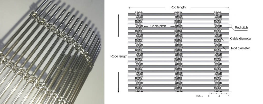Cable Rod Woven Mesh4